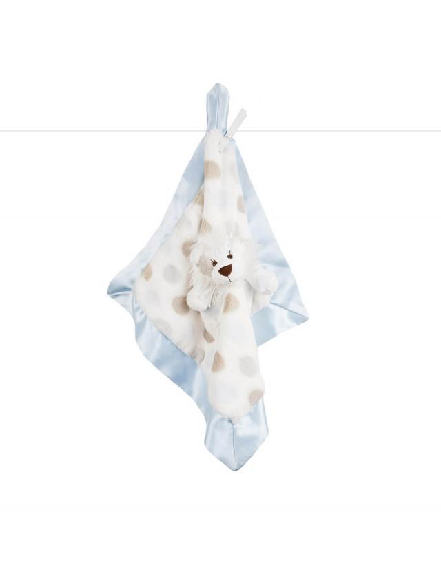 Little Giraffe 動物點點安撫巾 - 小獅藍色
