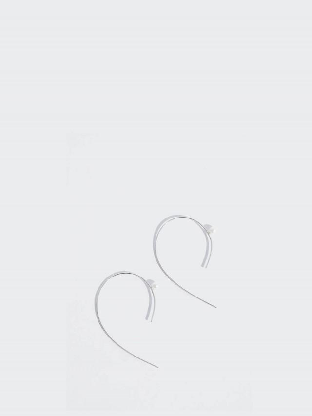 Lélim Jewelry 耳環 SILVER COMMA PEARL EARRINGS