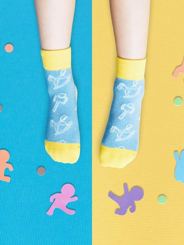 sokker 兒時童玩防滑 4 分之 3 童襪
