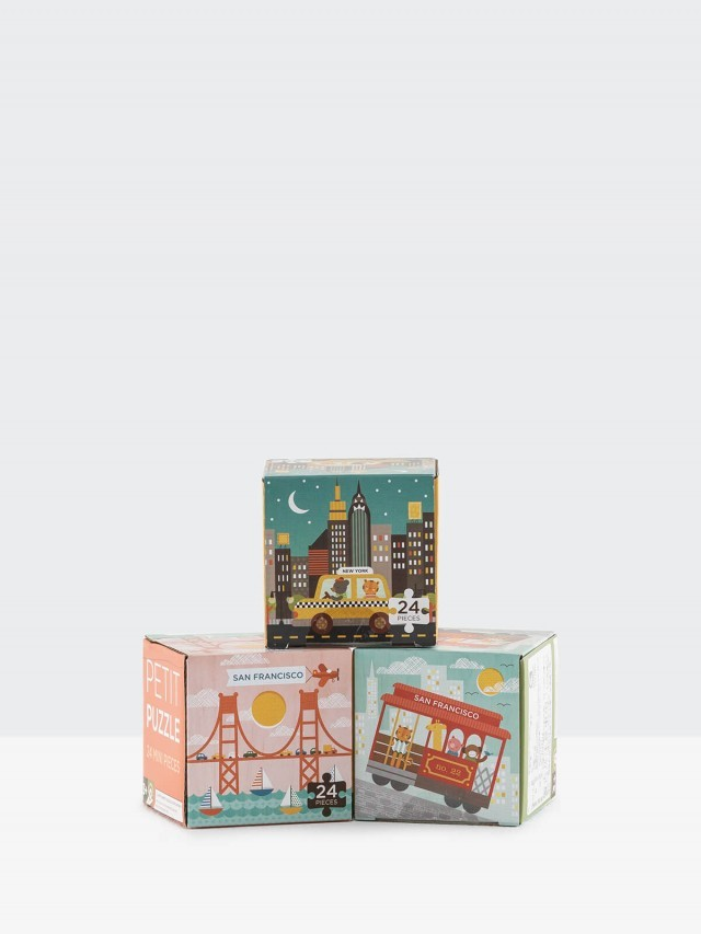 petit collage 小拼圖三入組 - 計程車 / 纜車 / 大橋