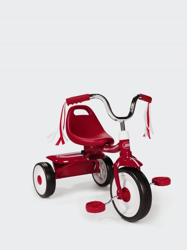 RADIO FLYER 紅騎士折疊三輪車 - 彎把