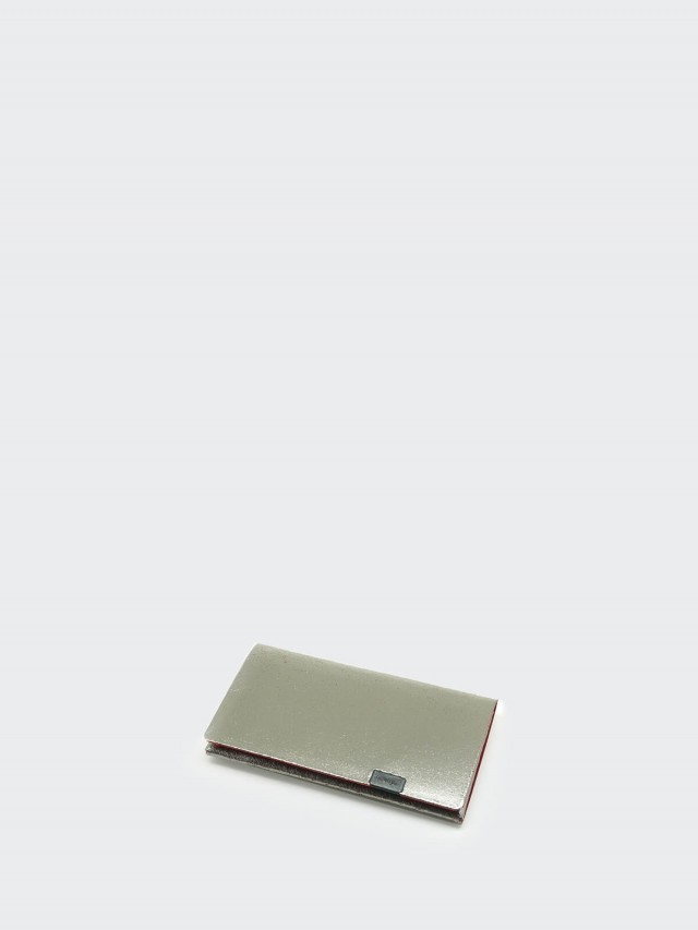 Shosa 所作 名片夾 / 卡夾 - 時尚內斂款 - 銀紅
