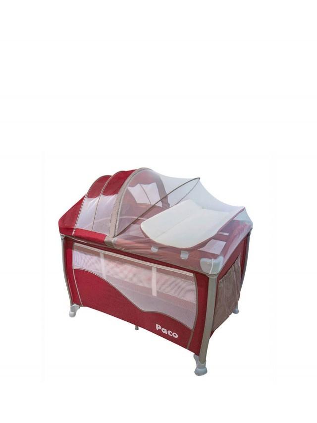 Paco 多功能雙層遊戲床 - 酒紅色