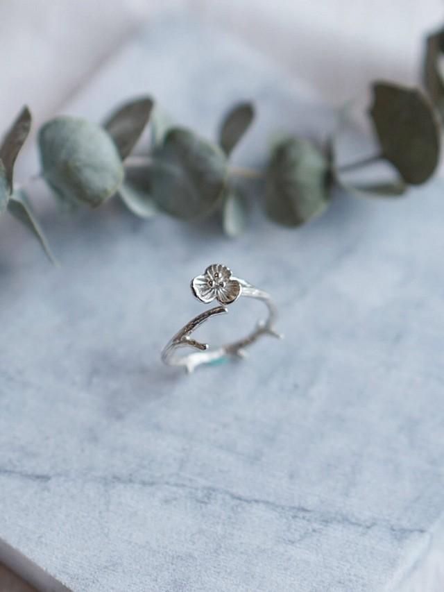 EMMPTYFOREST 繡球花瓣 純銀活動戒指