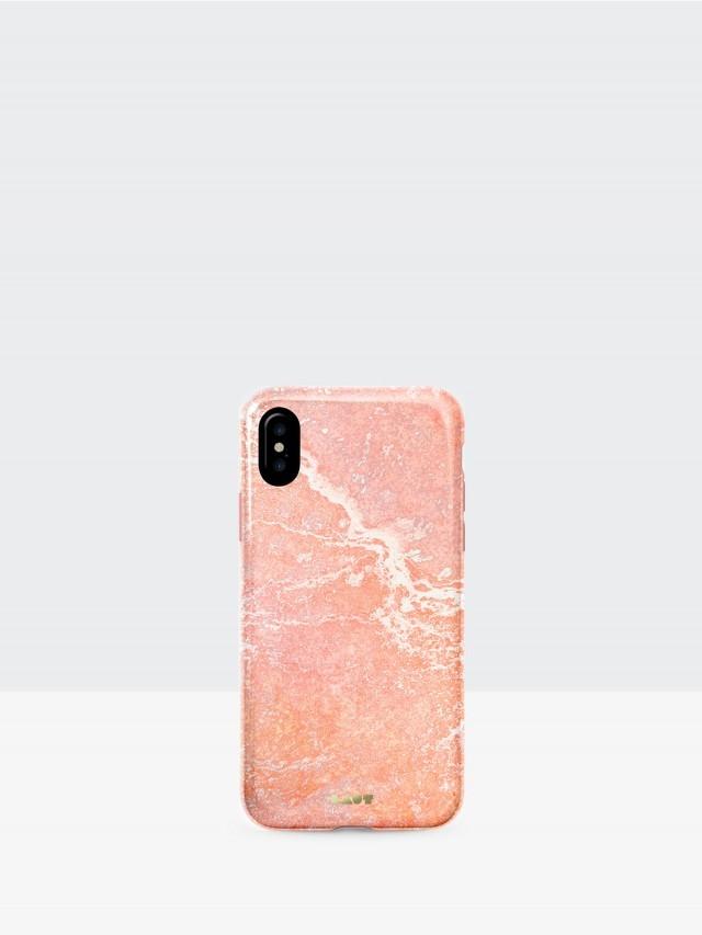 LAUT iPhone X 經典大理石系列 TPU 保護殼 - 粉紅