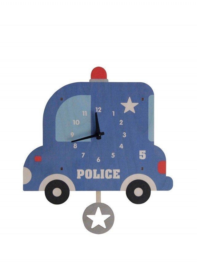 modern moose 警車 3D 立體擺鐘