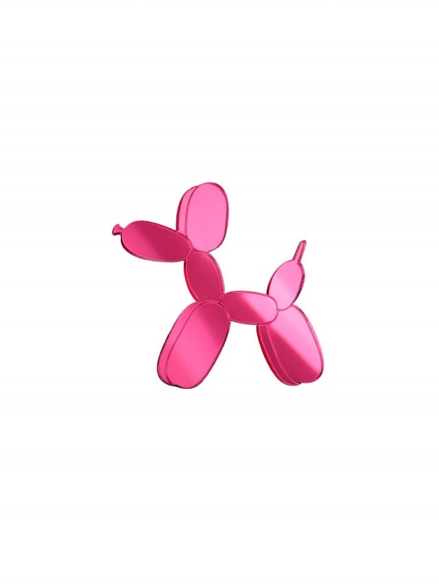 MONOLAMA 鏡面反光材質氣球狗別針 - 桃紅