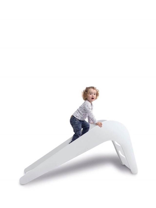 Jupiduu 頂級木製溜滑梯 - 白色