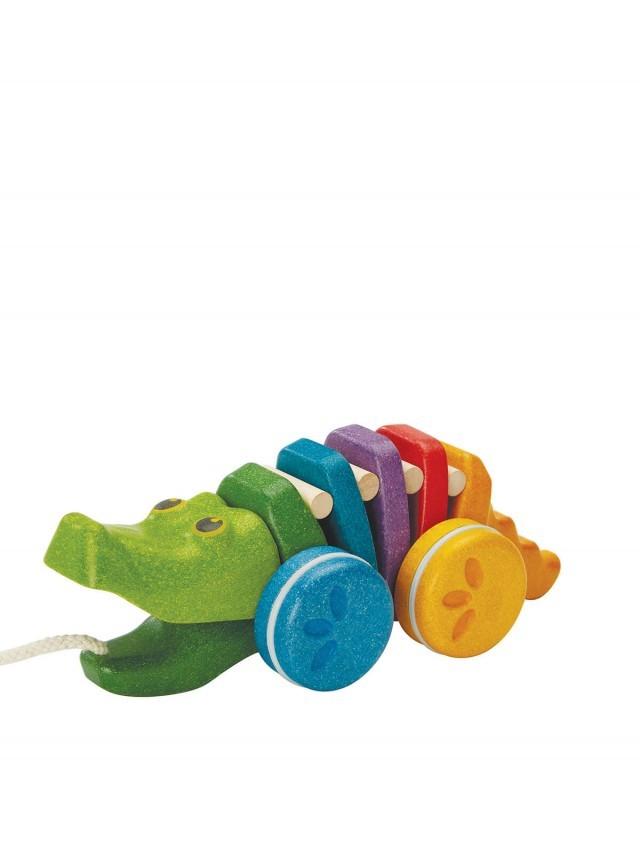 PLANTOYS 彩虹鱷魚拉車