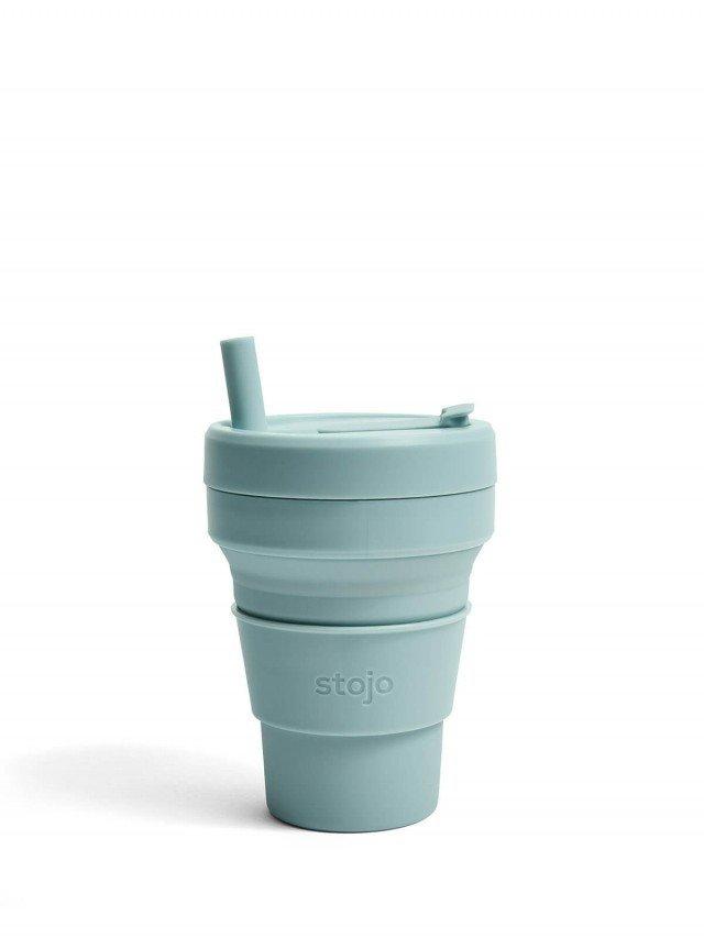 stojo 折疊伸縮杯 16oz - 海水藍
