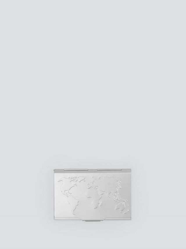 TROIKA 世界地圖輕巧名片夾 - 銀色