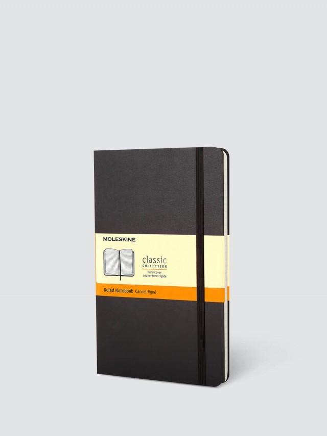 MOLESKINE 經典黑色硬殼筆記本 - L 型 / 橫線