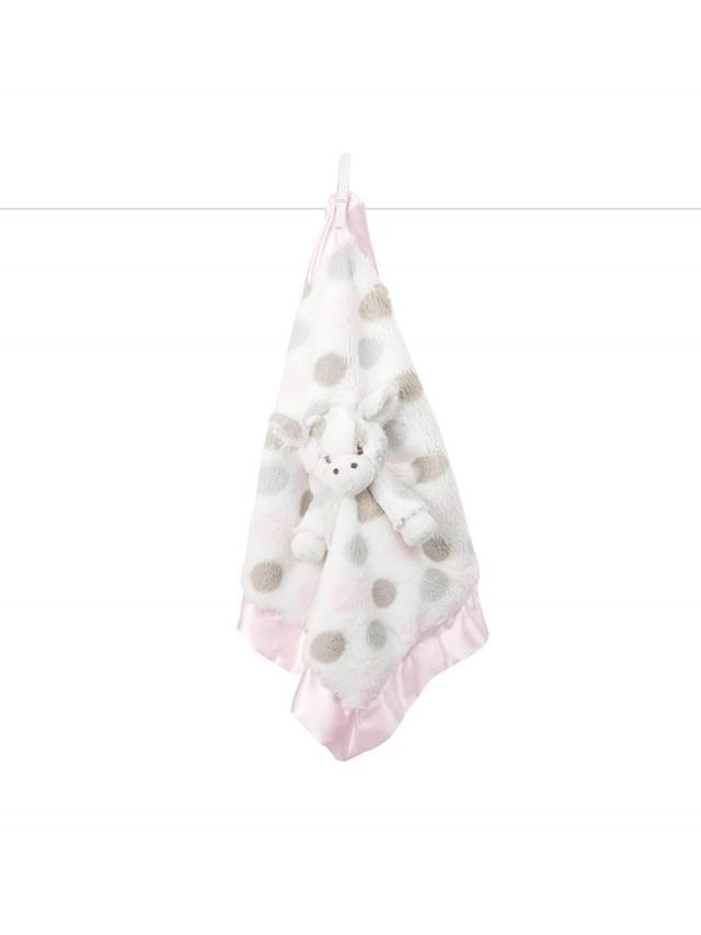 Little Giraffe 動物點點安撫巾 - 長頸鹿粉色