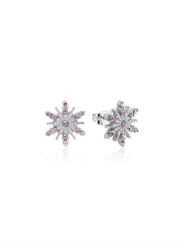 COUTURE KINGDOM Disney Jewellery 冰雪奇緣 2 雪花粉紫水晶耳釘 x 925 純銀鍍銠