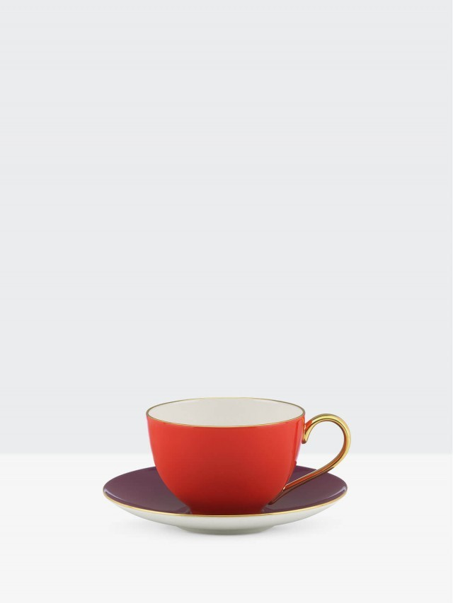 kate spade 彩色甜心茶杯組 - 亮紅