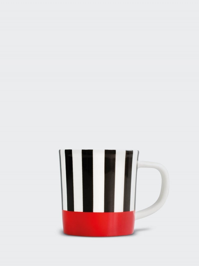 REMEMBER 骨瓷義式咖啡杯組 x 紅黑條紋