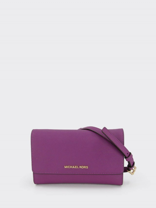 MICHAEL KORS 防刮皮革手拿 / 斜背包 x 紫紅色