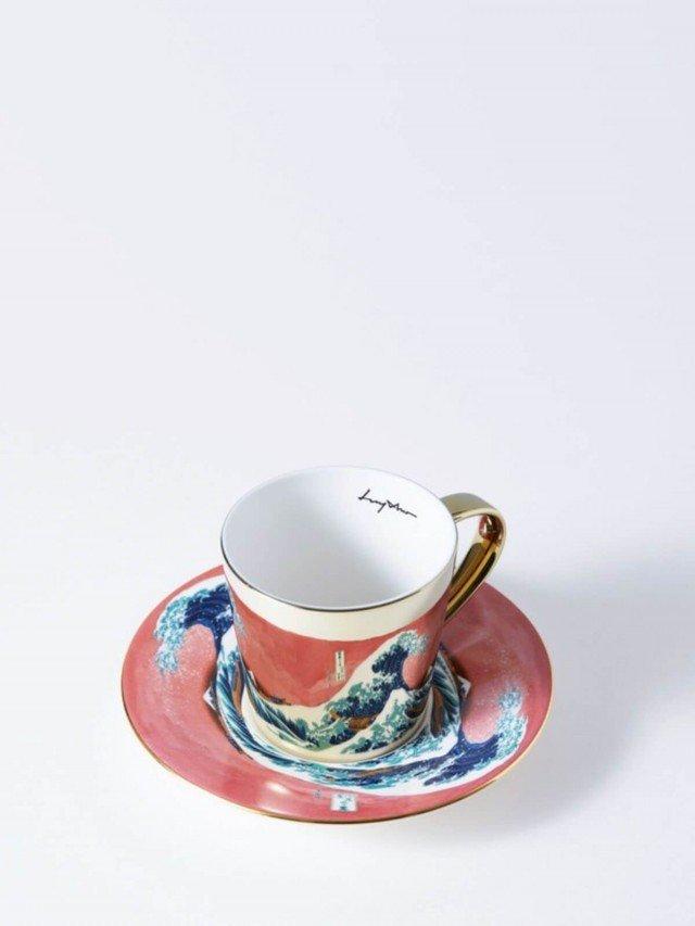 Luycho 鏡面倒影動物圖案咖啡杯 - 神奈川沖浪裏  ( 致敬 )