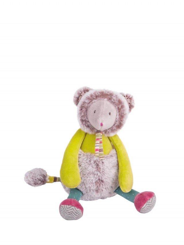 Moulin Roty 帕奇小綠鼠安撫娃娃 21cm