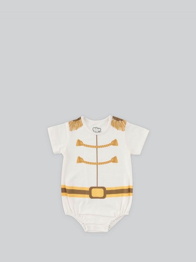 日安朵朵 男嬰連身衣 - 白馬王子 / 短袖