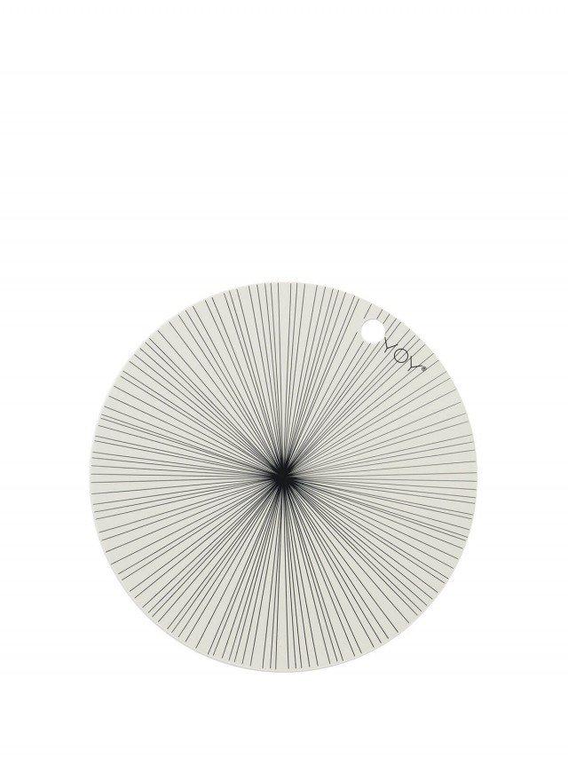 OYOY 圓形矽膠餐墊 - 時空隧道 ( 2入組 )