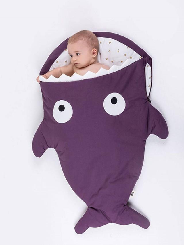 BABY BITES 嬰兒版鯊魚睡袋 - 輕量版 x 紫羅蘭 ( 杯子蛋糕 )