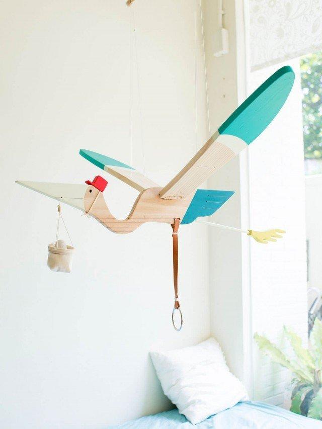 eguchi toys 飛鳥吊飾 - 送子鳥
