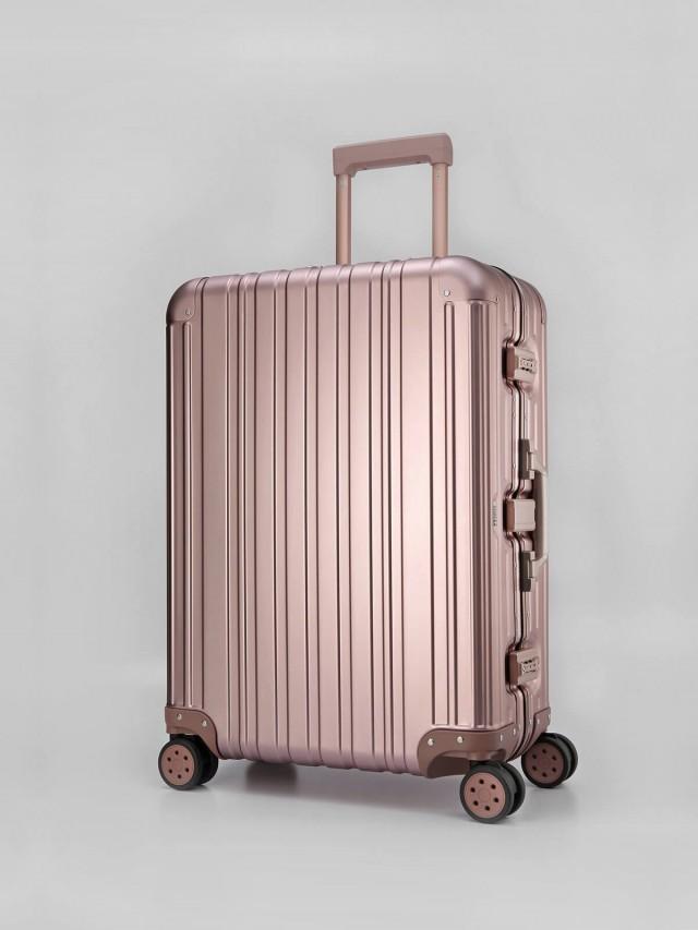 Swiss Style 極緻奢華鋁鎂合金行李箱 - 26 吋 / 玫瑰金
