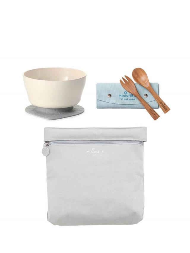 Miniware 旅行餐具組 - 牛奶麥片 x 孟宗竹 x 大象灰
