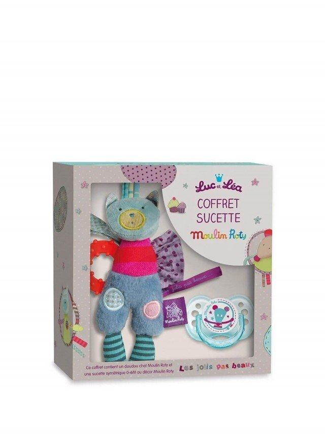 Moulin Roty 麗絲 Luc & Lea 安撫奶嘴、安撫娃娃禮盒組