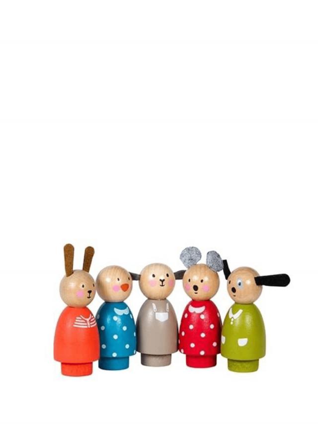 Moulin Roty 兔子家族木偶