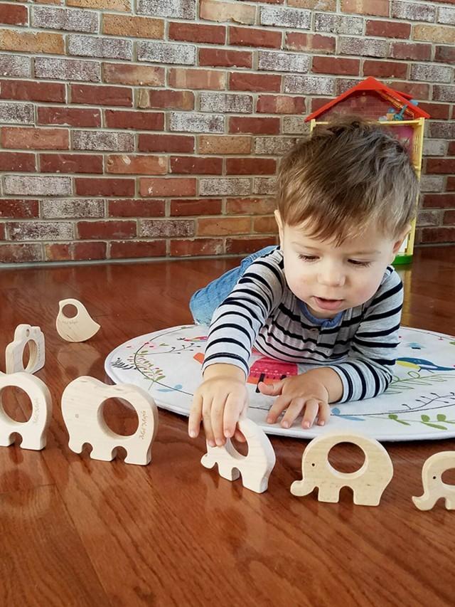 Mali Wear 嬰幼兒動物造型原木固齒器   ( 中型 4 入組 )