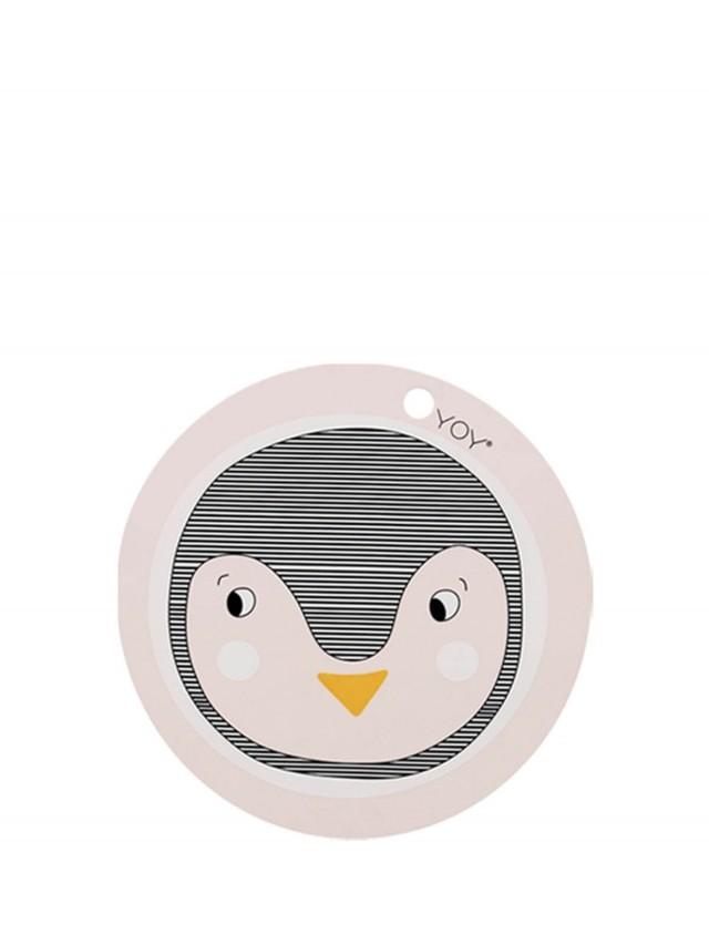 OYOY 圓形矽膠餐墊 - 企鵝