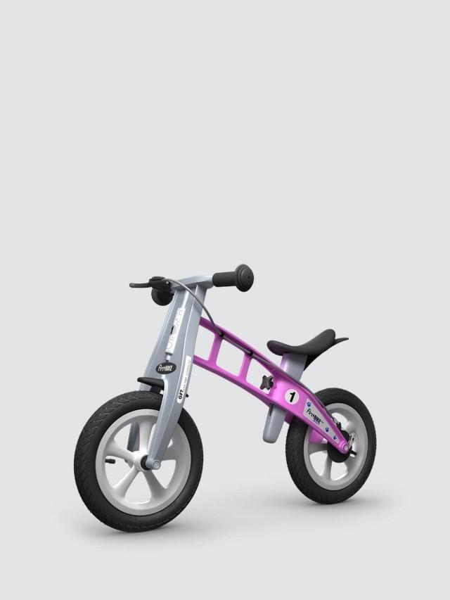 FirstBIKE 兒童滑步車 / 平衡車 - 街頭亮麗粉 / 附煞車