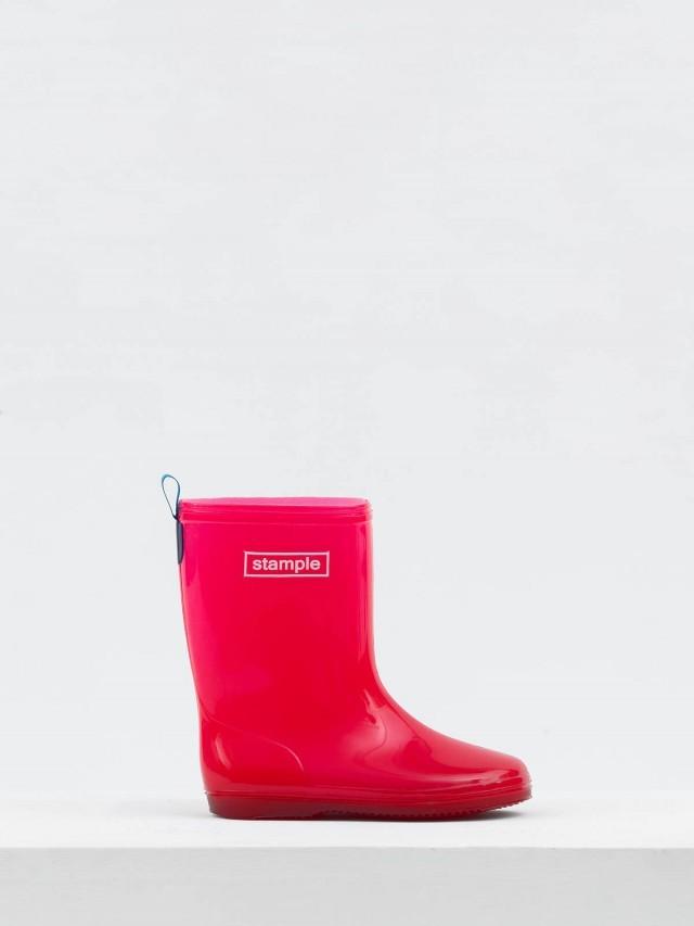 stample 日本製兒童果凍雨鞋 - 櫻桃紅