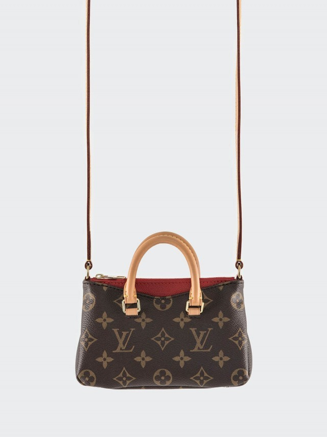 LOUIS VUITTON M61254 經典 Monogram Nano Pallas 迷你肩背包