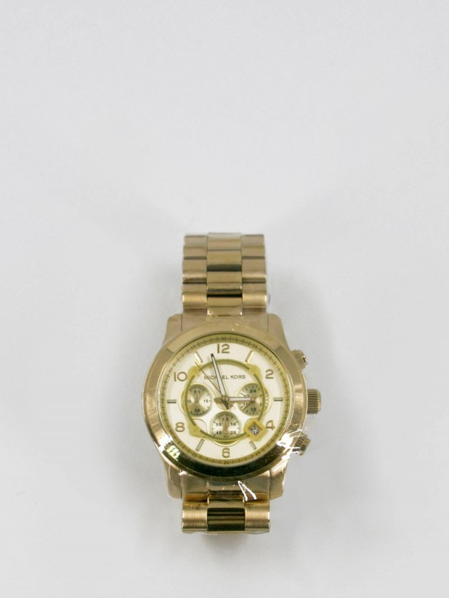 MICHAEL KORS MK 金色不鏽鋼腕錶
