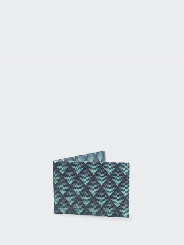 paprcuts.de 零錢短夾 - 菱格綠