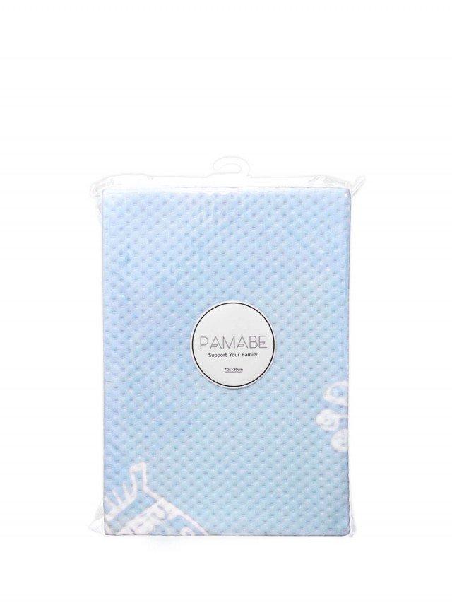 PAMABE 竹纖維防水嬰兒尿布墊  動物樂園 ( 藍 ) - 70 x 130 cm
