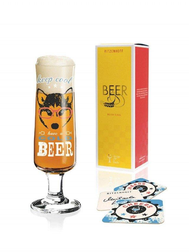 RITZENHOFF BEER 新式啤酒杯 / 酷酷眼鏡狗