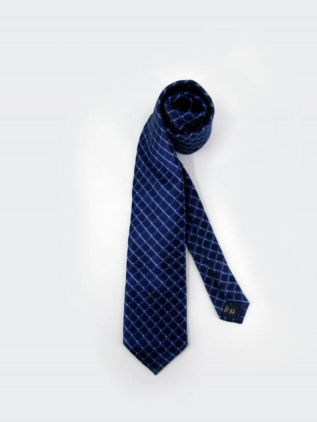 MICHAEL KORS 藍格粉點紳士領帶