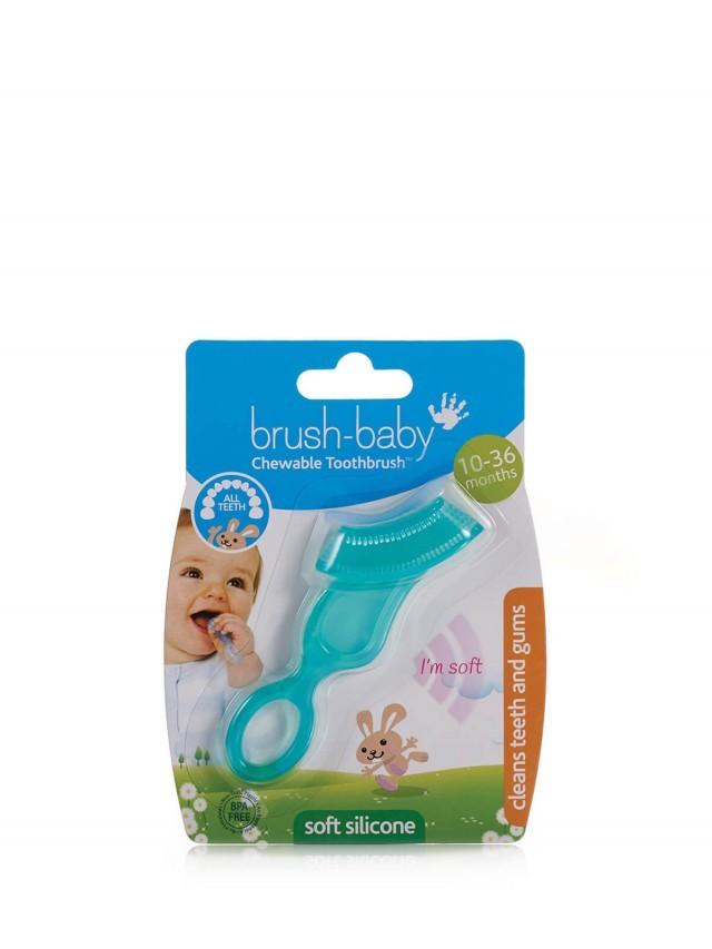 brush-baby 固齒潔牙刷 ( 粉綠 )