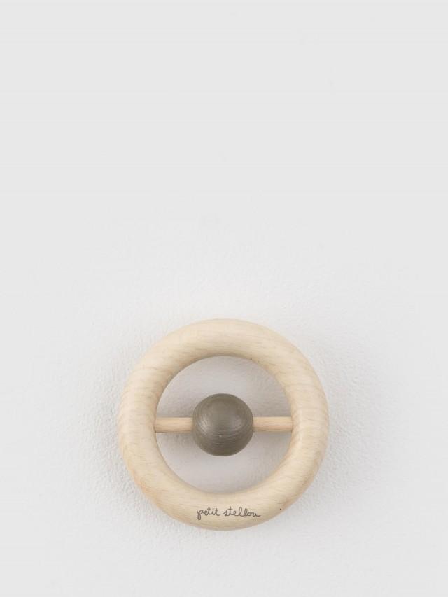 Petit Stellou 木質安撫手搖鈴固齒器 - 灰褐