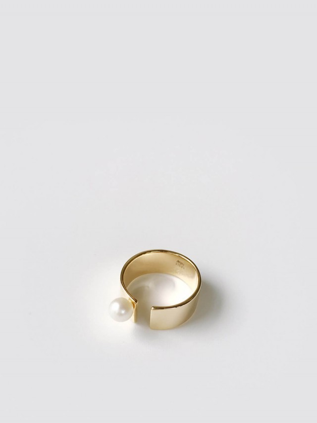 LESIS 戒指 - Open Gap Pearl Ring