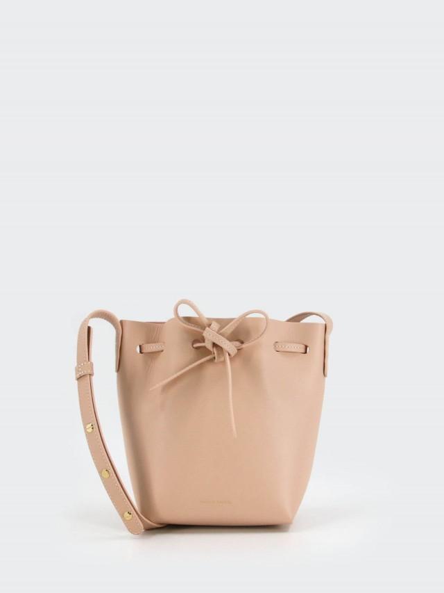 MANSUR GAVRIEL Mini Bucket 小牛皮 Mini 肩背 / 斜背水桶包 - 淺粉