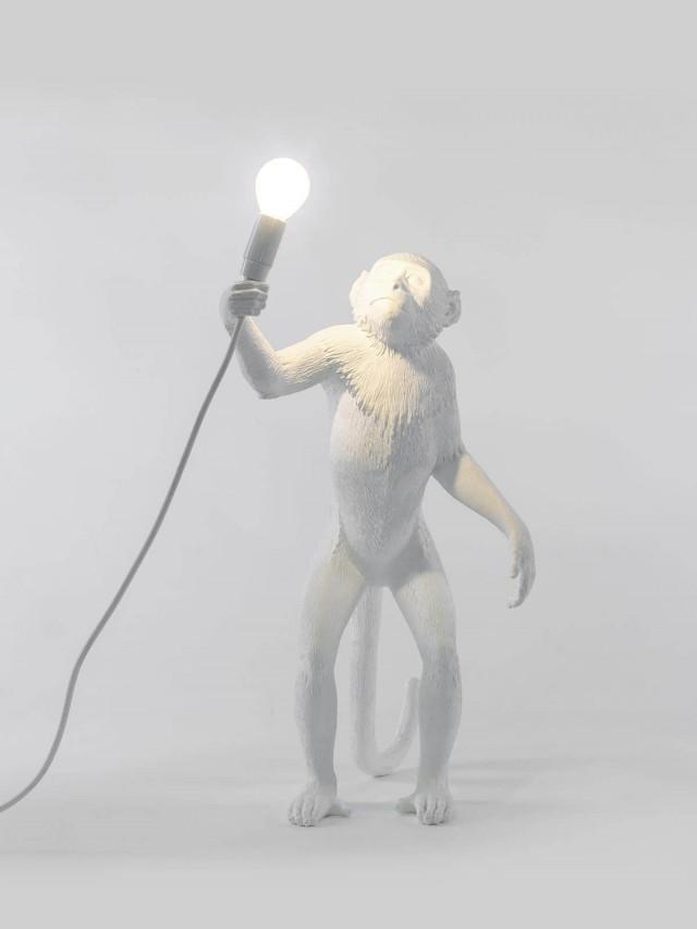 SELETTI 猴子站立造型燈