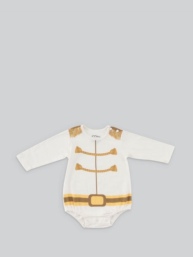日安朵朵 男嬰連身衣 - 白馬王子 / 長袖