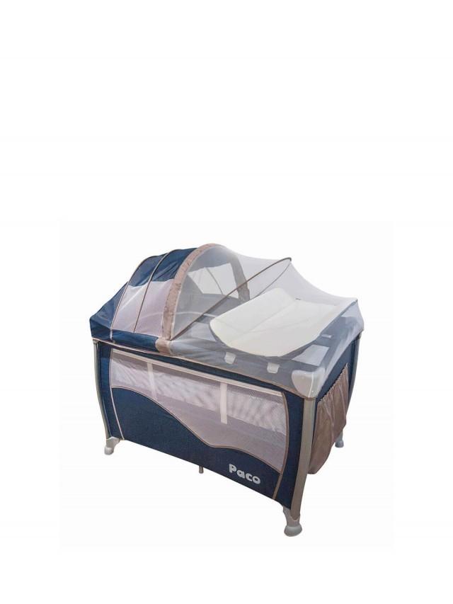 Paco 多功能雙層遊戲床 - 深藍色