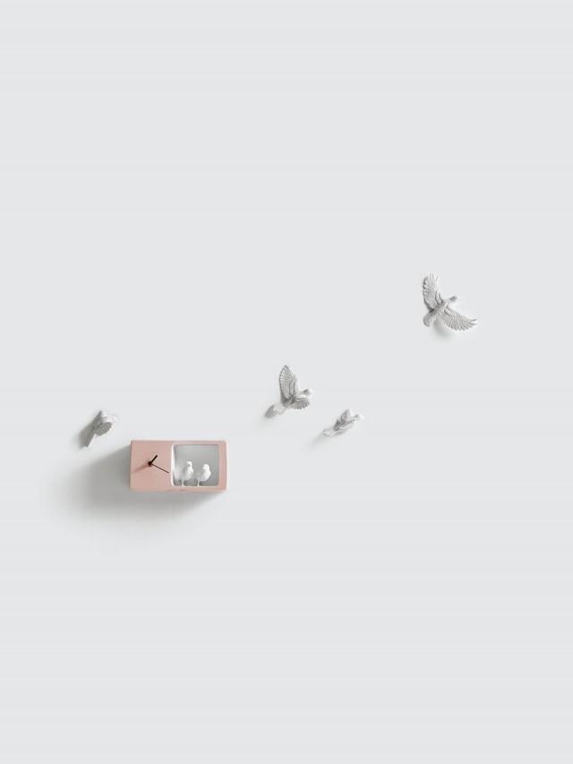 haoshi 麻雀時鐘 - 粉紅