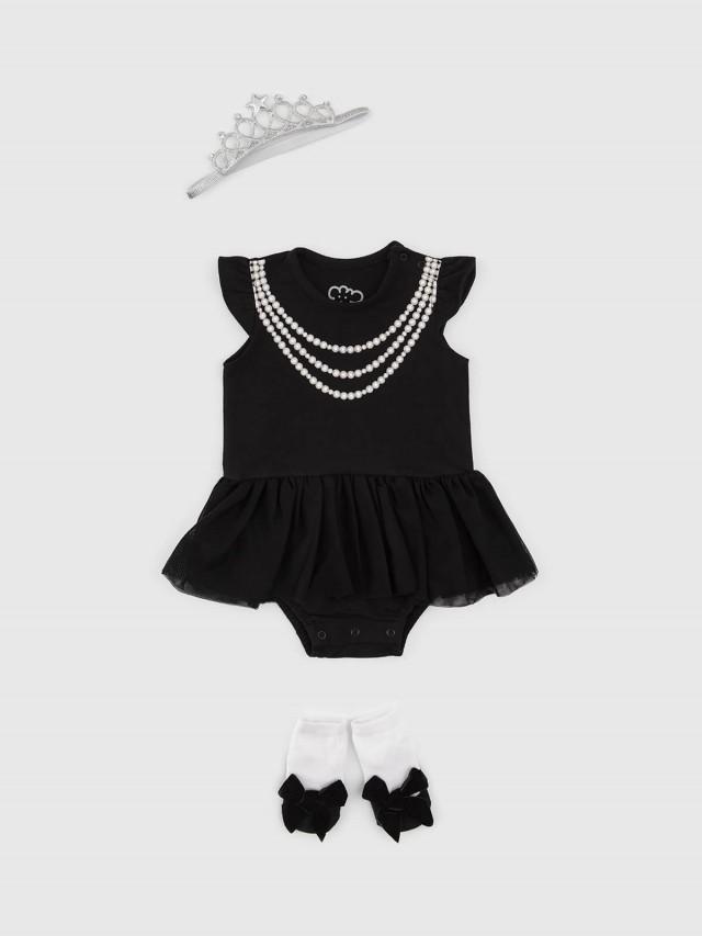 日安朵朵 女嬰雪紡蓬蓬裙連身衣禮盒 - 奧黛莉赫本 / 短袖